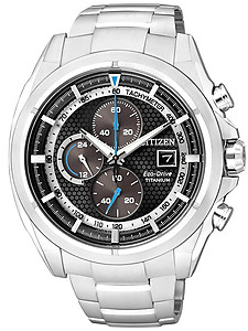 CITIZEN Eco-Drive Chronograph Super Titanium Collection CA0551-50E