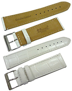 20mm Genuine Leather Strap Color: White Code: HGX8247W20