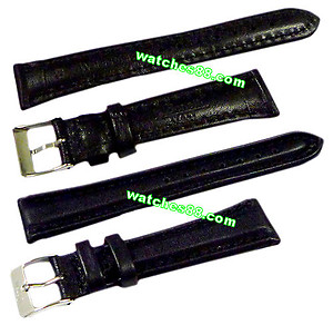 19mm Genuine Leather Strap – Black Color Code: HGX8369-19