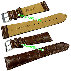 24mm Genuine Leather Strap - Color: Brown Code: HGX8218-24mm
