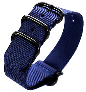 22mm ADMIRAL Nato Nylon Strap  Code: N22BBL Color: Blue