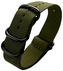 22mm ADMIRAL Nato Nylon Strap  Code: N22BGR  Color: Army Green