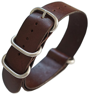 22mm ADMIRAL Nato Genuine Leather Strap Code: N22LBR Color: Brown
