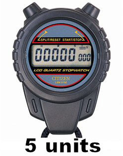 CITIZEN Digital Stopwatch LSW9108 - 5 Units