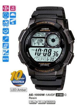 Casio Sporty Digital AE-1000W-1AV