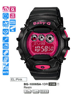 Casio Baby-G World Time Colors series BG-1006SA-1DR