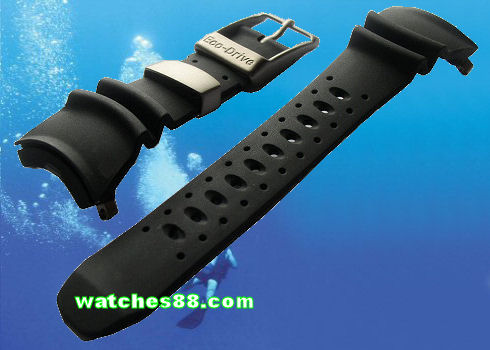 CITIZEN Genuine Diver's Rubber Strap for Promaster Model : BJ8040, BJ8041, NH6930 Code: 59-T50042
