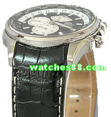 ORIENT 21mm Genuine Leather for CEY04002B, CEY04005B Color :Black Color