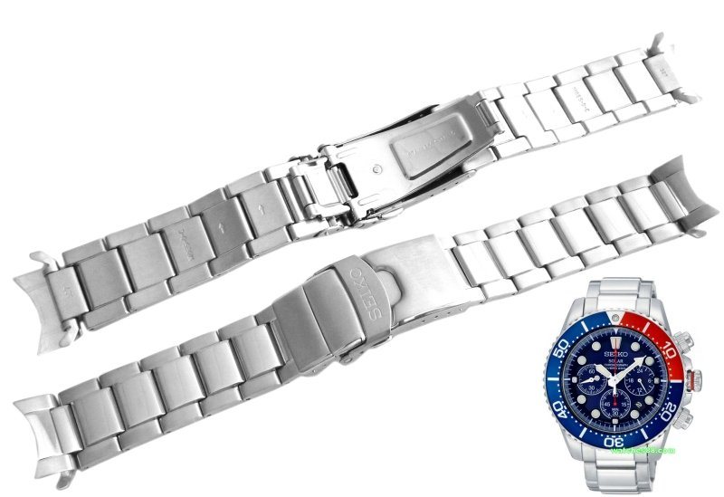 Seiko 20mm Solid Stainless Steel Bracelet for SSC015, SSC017, SSC019, SSC021 & etc. Code: M0ES327J0