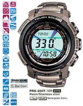 CASIO Protrek Tough Solar Triple Sensor PRG-200T-7DR