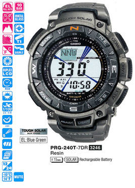 CASIO Protrek Tough Solar Triple Sensor PRG-240T-7DR