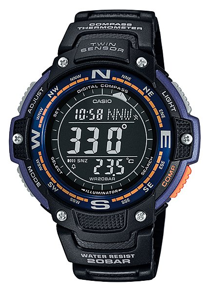 CASIO SPORTS GEAR - TWIN SENSOR SGW-100-2B