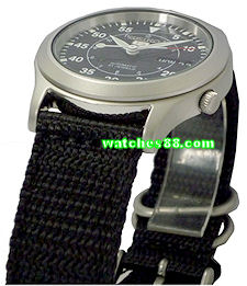 Seiko 20mm Genuine Nylon Strap for SNKH63, SNKH65, SNKH67, SNKH69 & etc. Color: Black Code: 301D1JL