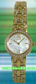 CITIZEN Eco-Drive Ladies Crystal Collection EW9142-70D